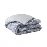 "CHANDERNAGOR Flat sheet in organic cotton sateen printed ""Perse"""