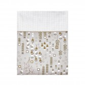 CONTE D'HIVER Grey / Gold Pillowcase