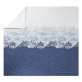 HIGLAND Blue denim printed cotton percale duvet cover