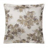 "HALATTE Flat sheet in organic satin cotton printed ""Autumn Forest"""