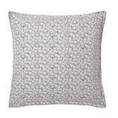 """SOUS-BOIS Duvet cover in organic cotton percale printed """"Art deco leaves and ikat patterns"""""""