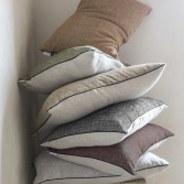 "HALATTE Bed set in organic cotton satin printed ""Autumn Forest"""
