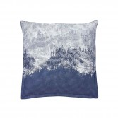 HIGHLAND Blue denim, Printed cotton percale Pillowcase