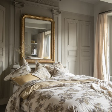 HALATTE Bed set in organic cotton satin printed