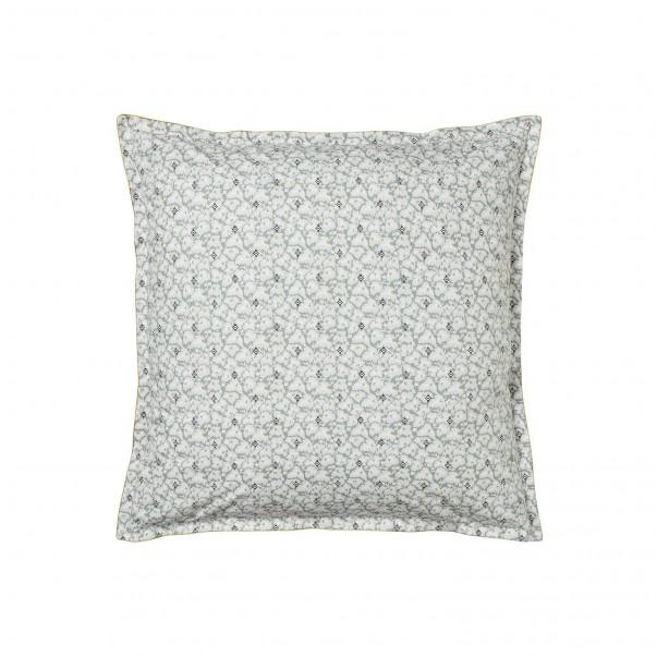 "Pillowcase FEUILLES D'IKAT printed ""Art deco leaves"" cotton percale"