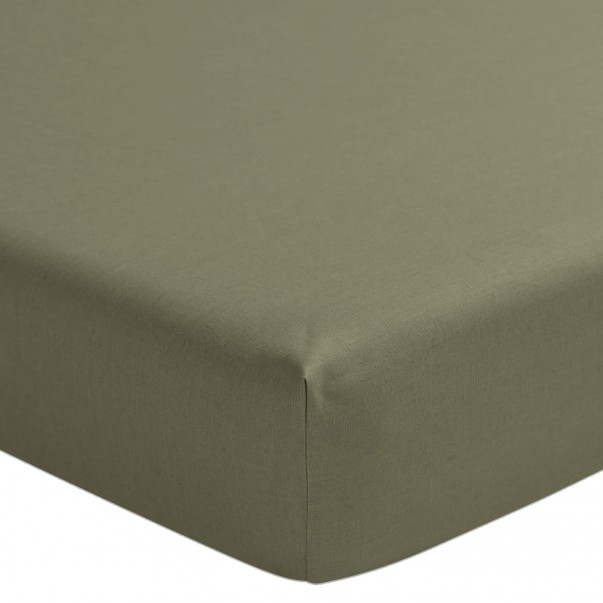 Fitted sheet pre-washed linen NOUVELLE VAGUE on promotion