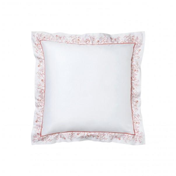 "Pillowcase ZANZIBAR printed sateen ""Corals and shellfishs"""