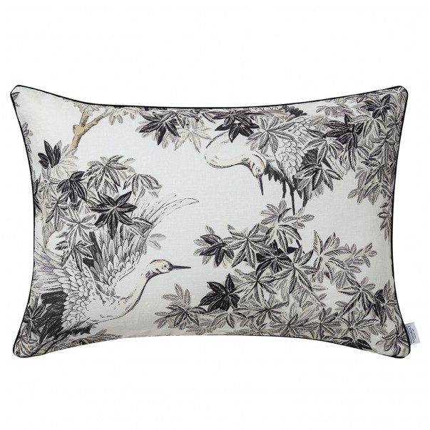 ESTAMPE printed cushion cover in linen
