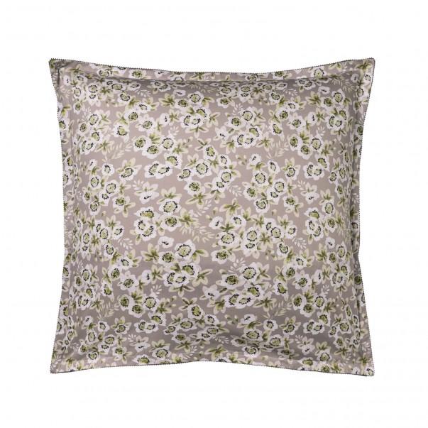 "BLOSSOM Pillowcase in organic cotton sateen printed ""Passiflore"""