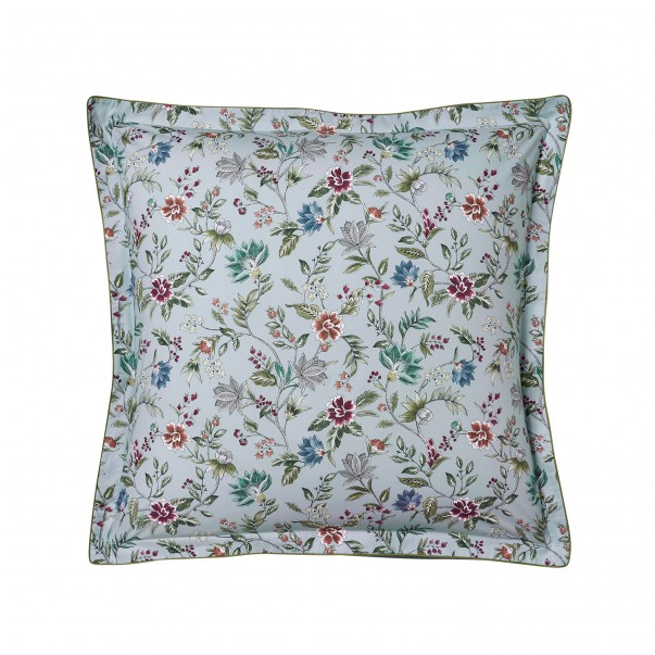 """CANDIDE Pillowcase in printed cotton percale """"Flore Persane"""""""
