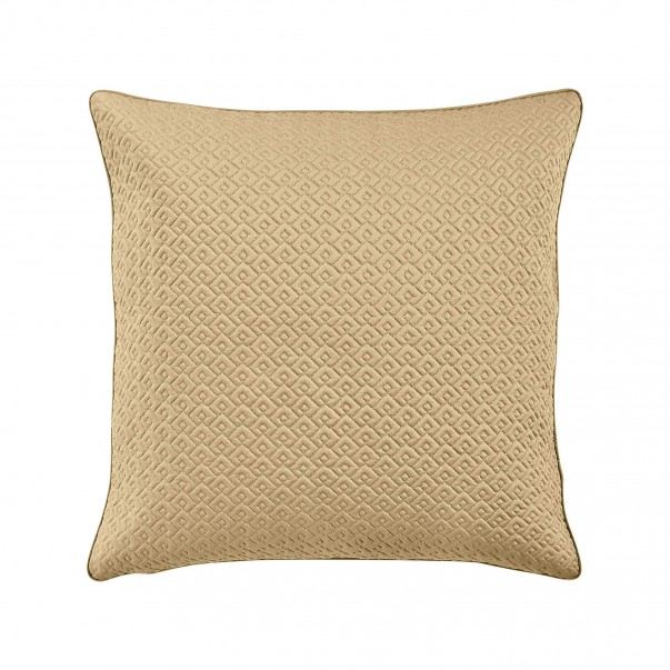 "PALACE Quilted Cushion Case ""small scales"" pattern, in cotton sateen"