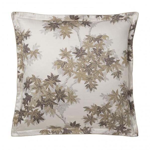 "HALATTE Pillowcase in organic satin cotton ""Autumn Forest"" print"