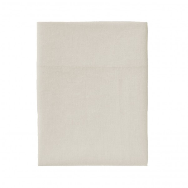 """Flat sheet pre-washed linen NOUVELLE VAGUE  """"French Origin"""" guaranteed"""