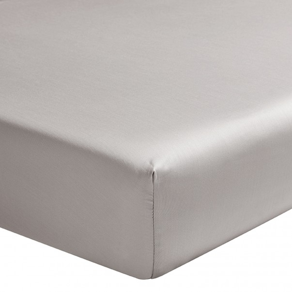 TEOPHILE Fitted sheet in organic cotton sateen