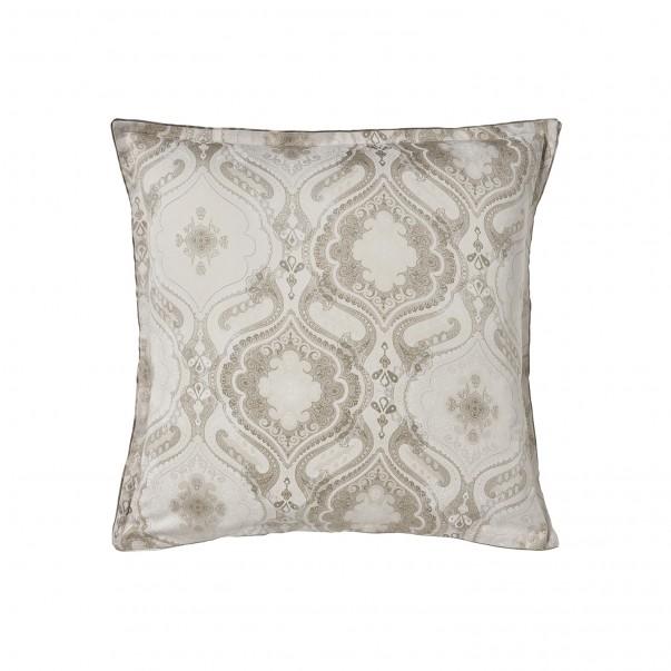 """Pillowcase NAMASTE Biscuit, printed sateen """"Cashemere"""" pattern"""