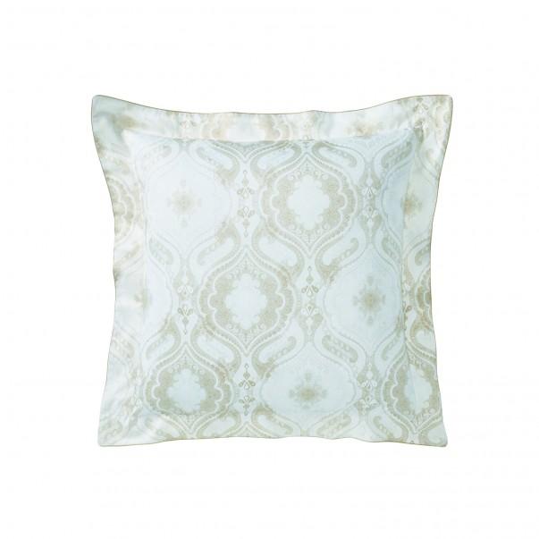 "Pillowcase NAMASTE Hermine in printed sateen ""Cachemire"""