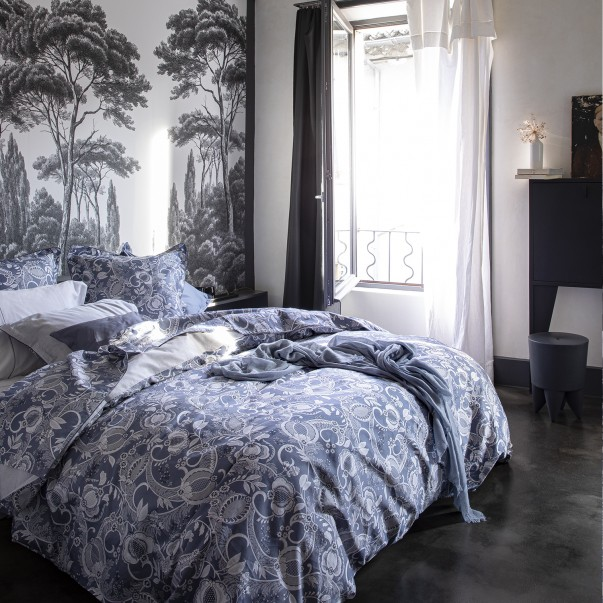 """CHANDERNAGOR Bed set in organic cotton sateen printed """"Perse"""""""