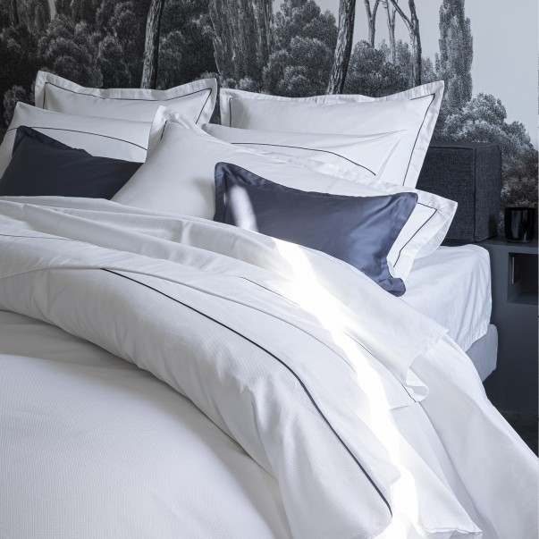 Customisable bed linen set ORSAY in jacquard and organic cotton sateen
