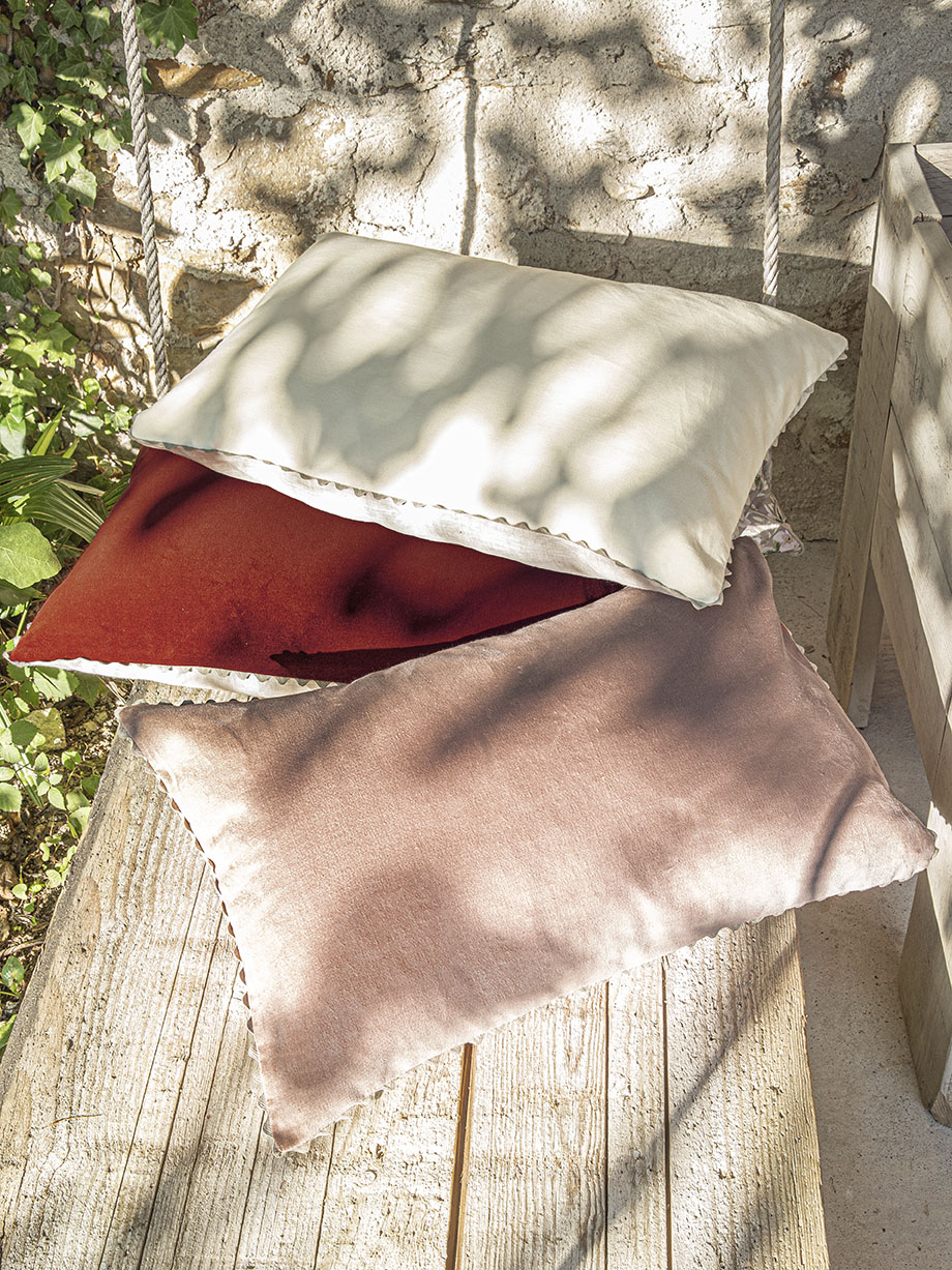 Coussin upcycling Velin