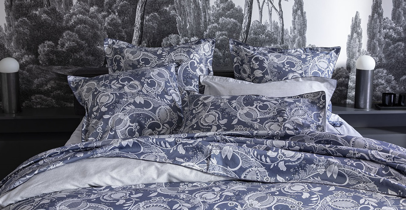 Parure de lit en satin de coton biologique Chandernagor